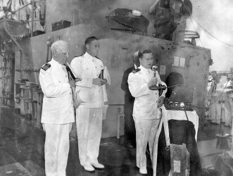 Commissioning of HOLT in New Orleans, LA<br>9 June 1944