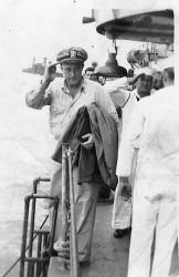Captain Victor Blue leaving HOLT
