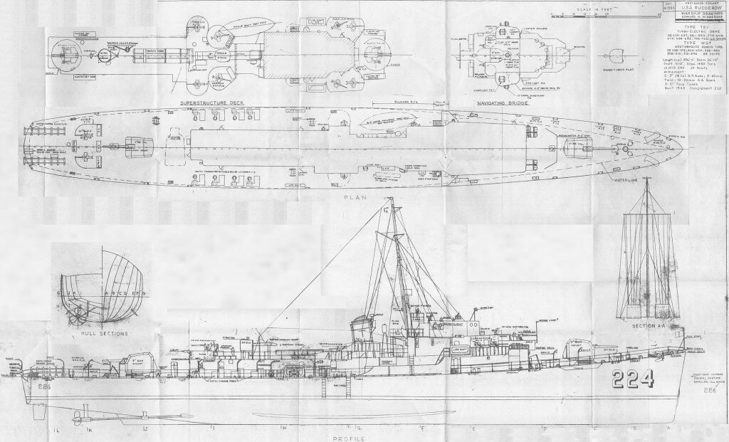 USS Holt Blueprints